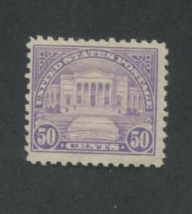 1922 US 50 Cents Postage Stamp #570 Mint Never Hinged F/VF Original Gum
