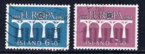 Iceland 588-89 Used 1984 Europa