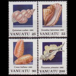 VANUATU 1995 - Scott# 654-7 Shells Set of 4 NH