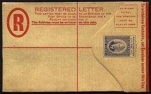 GRENADA GVI 6c small size registered envelope - unused.....................19068
