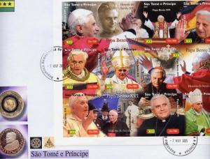 Pope Benedict XVI St.Thomas 2005 Sheetlet (9)Imperf.MNH VF