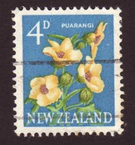 New Zealand 1960 Sc#338 SG#786 4d Puarangi Flower Used