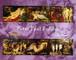 Somalia 2004 Peter Paul RUBENS NUDES Paintings Sheet (6) Imperforated Mint (NH)
