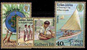 GILBERT AND ELLICE ISLANDS QEII SG60-63, 1977 scouting set, NH MINT. KIRIBATI