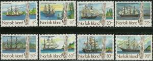Norfolk Island - 1985 Tall Ships - 8 Stamp  Set #356-63 - 14M-004