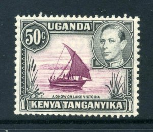 KUT 1938 KGVI 50c p13x11¾ SG 144 purple + black mint