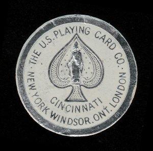POSTER STAMP SEAL U.S. PLAYING CARD CO CINCINNATI WINDSOR LONDON (USED)
