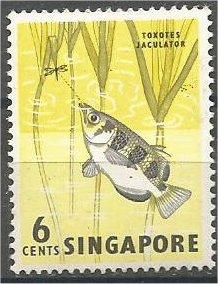 SINGAPORE, 1962, MNH 6c, Archerfish, Scott 56