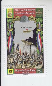 2018 New Caldonia New Caledonians in WWI (Scott 1240) MNH