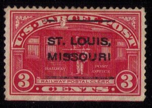 US Sc #Q3 Used Parel Post Precancel St.Louis,Mo .VF/XF Cat. $35.00
