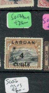 LABUAN (P1811B)   ON NORTH BORNEO  4C/18C  SG 133    MOG