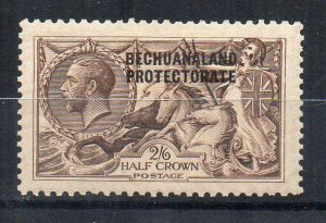 Bechuanaland Protectorate 1915 2s 6d GB Seahorse opt MH