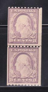 United States 488 Line Pair MNH George Washington