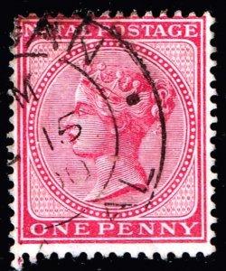 UK STAMP NATAL  Queen Victoria,  1 P USED