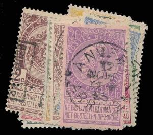 BELGIUM-a-1849-1911 ISSUES (to 91) 60-75  Used (ID # 87848)