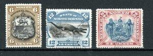 North Borneo 1894 6c, 12c and 24c perf 13 1/2-14 FU CDS