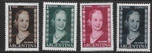 ARGENTINA 611-614 MNH EVA PERON