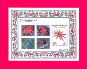 Somalia MNH S/S Starfish Seastars Marine Life 2001