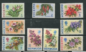 STAMP STATION PERTH Bermuda #255-257,259-264, QEII Definitive Issue MNH CV$12.00