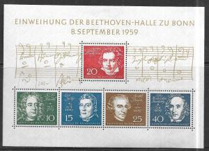 Germany #804 Opening of Bethoven Hall S/S (MNH) CV $17.50