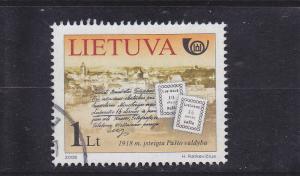 Lithuania  Scott#  820  Used