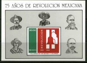 MEXICO 1419, 75th Anniversary of the Revolution Souvenir SHEET. MINT, NH. VF.