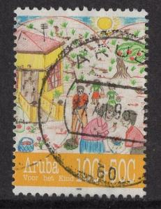 Aruba   #B42  used  1995  child welfare  100c