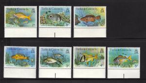 Turks & Caicos Islands MNH 361-7 Gorgeous Fish