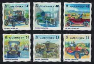 Guernsey Centenary of the Ford Model T 2008 MNH SG#1242-1247 CV£7.05