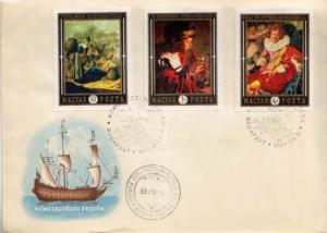 Hungary, First Day Cover, Art