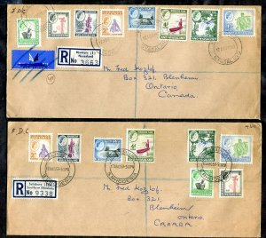 c013 - RHODESIA AND NYASALAND 1959 Lot of (2) FDC Covers to CANADA