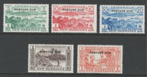 British New Hebrides 1957 Postage Due Overprints Scott # J16 - J21 MH