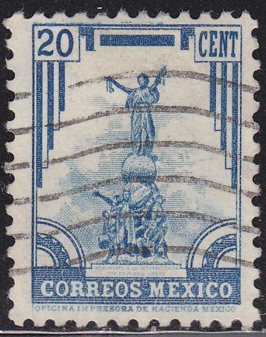 Mexico 715 Hinged Used 1935 Independence Monument, Puebla