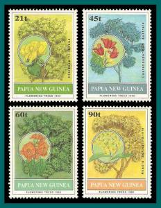 Papua New Guinea 1992 Flowering Trees, MNH 794-797,SG675-SG678