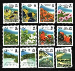 BIOT-Sc#383-94-unused NH set-Birds-Turtles-Fish-Flora-Fauna-2009-
