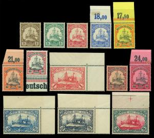 German Colonies - NEW GUINEA 1901  Kaiser's YACHT set  Sc# 7-19  mint MNH**