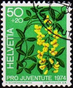 Switzerland. 1974 50c+20c. S.G.J247  Fine Used