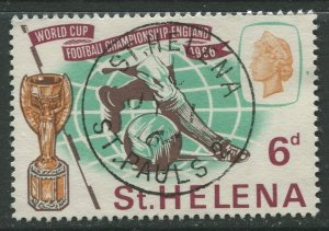 STAMP STATION PERTH St Helena #189 World Cup Soccer 1966 VFU
