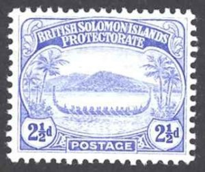 Solomon Islands Sc# 11 MH 1908-1911 2 1/2p War Canoe