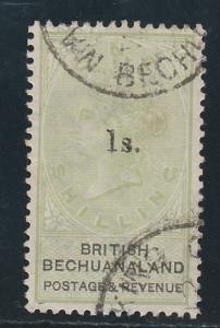 BRITISH BECHUANALAND 1888 QV 1S ON 1/-