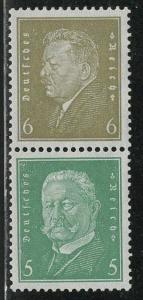 Germany Scott # 369, 368, mint hr, se-tenant, Mi# S44