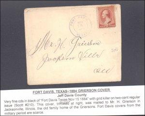 Jeff Davis County Fort Davis ( Postal History ), 1884
