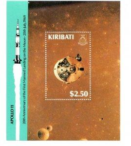 1989  KIRIBATI - SG: MS 309  - 20th ANNIV. 1ST MAN ON MOON - UNMOUNTED MINT