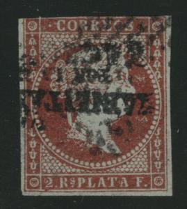 Philippines Scott 27 used inverted handstamp 1873 scarce