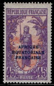 Middle Congo Scott 39 MH* stamp