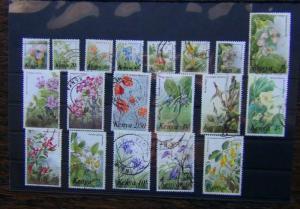 Kenya 1983 Flowers set complete to 40s SG257 - SG271 Used