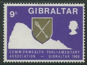 Gibraltar #220 QEII MNH  Scott CV. $0.25