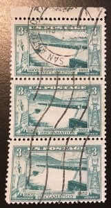1009 Grand Coulee Dam, circulated strip, Vic's Stamp Stash