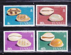 Tuvalu 129-132 Set MNH Sea Shells, Cowry Shells (A)