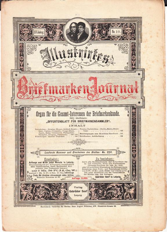 Germany - Briefmarken Journal 19 May 1888 #10 (Leipzig)